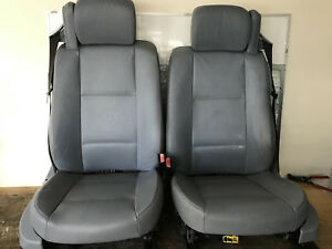 Bmw Front Leather Seats Pair Gray E46 325ci 323ci 330ci Convertible Seat