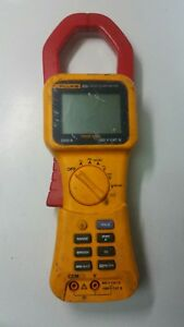 Fluke 355 Trms 2000a Ac dc Clamp Meter Volts Amps Resist Cont Used