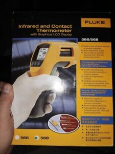 New Fluke 568 Infrared Thermometer W Usb Data logging Capabilities