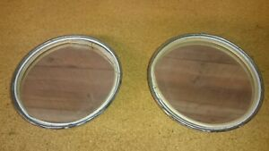 Jaguar Set Antique Chrome Mirrors Classic Car Auto Parts