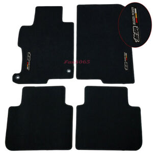 Fits 13 17 Honda Accord Black Nylon Floor Mats Carpets W Mugen Embroidery