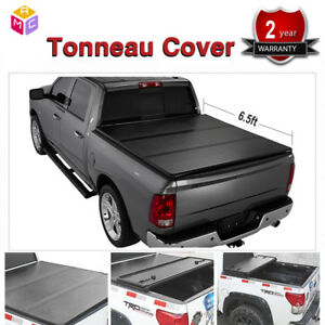 For Chevy Gmc Sierra Hard Solid Tri fold 2007 2014 6 5ft Truck Bed Tonneau Cover