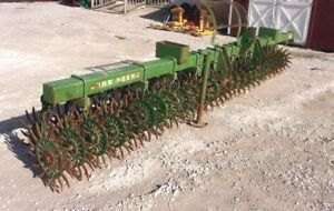 Used John Deere 15 Ft Spike Aerator Hd 3 Pt fast And Low Cost Shipping
