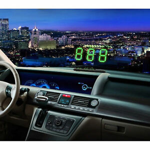 Gps Hud Digital Head Up Display Car Truck Speedometer Universal Speed Warn Drive