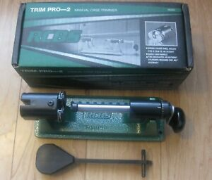 90365 NEW RCBS TRIM PRO 2 CASE TRIMMER SPRING LOADED SHELL HOLDER w 2 PILOTS