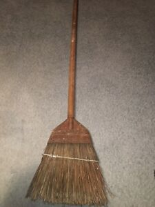 Fuller Rustic Hearth Broom 57 Inch Woodhandle Unique Chisel Piece Top