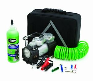 Slime 50063 Truck Spair Heavy Duty 12 volt Inflator Tire Repair Kit