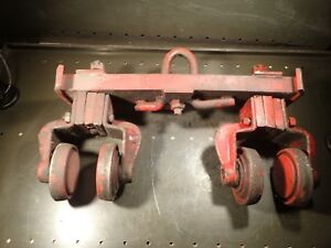 Heavy Duty 4 I beam Crane Hoist Spanner Trolley 16 1 2 Center To Center Used