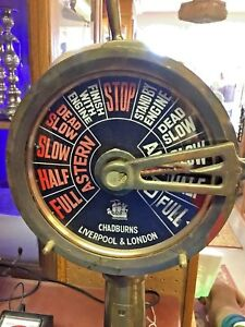 Vintage Chadburns Liverpool London Tall Sailing Brass Ship Engine Telegraph