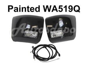 Painted Wa519q Front Bumper End Cap Fog Light Harness For Silverado 1500 2008 10