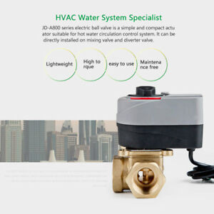Brass Mixed Electric Three way Valve Valves For Floor Heating System Ac 220 230v