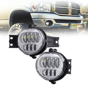 For 2002 2008 Dodge Ram 1500 2500 3500 Dodge Led Bumper Driving Fog Lights Kit