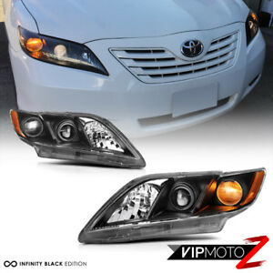 For 07 09 Toyota Camry trd Style Black Left right Complete Headlights Assembly
