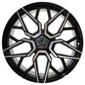 4 Gwg Mizu 22 Inch Gloss Black Machined Rims Fits Ford Shelby Gt 500 2007 2018