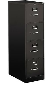 4 Drawer Steel Vertical File Cabinet Letter Size Filing Hon 510 Series Black