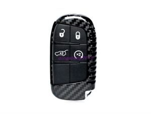 Carbon Fiber Keyless Remote Fob Key Case Cover Fit For Jeep Grand Cherokee 15 19