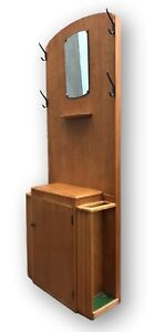 Early Mid Century Deco Coat Hallway Stand Cupboard 1930s By Lebus
