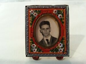 Antique Vintage Micro Mosaic Miniature Picture Frame Beautiful