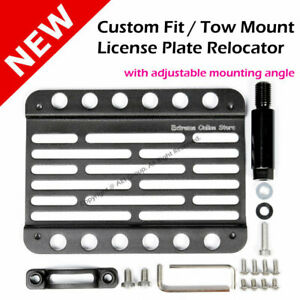 Vw Golf 10 14 Mk6 Multi Angle Tow Hook Mount License Plate Bracket