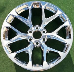 Set 4 Oem Factory Style Chrome Gm Escalade Denali Yukon Tahoe 22 In Wheels 5668