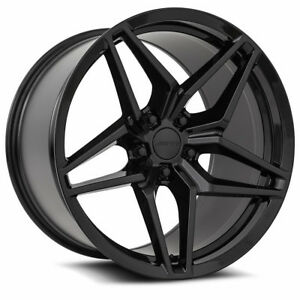 20x10 20x11 Mrr Flow Forged M755 5x120 23 43 Black Rims Fits Camaro