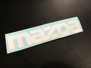 Mazda Wordmark Logo Vinyl Decal Sticker Car Window Wall 5 W