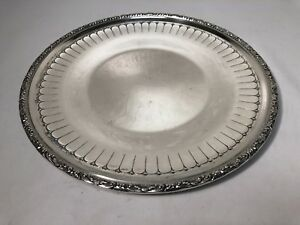 Vintage Towle Sterling Silver 54472 Round Serving Tray 11 Diameter