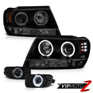 99 03 Jeep Grand Cherokee Wj Smd Drl Sinister Black Smoked Led Taillamps Offroad