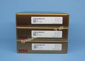 Nsk 7020a5tynsulp4y Abec 7 Super Precision Spindle Bearings Matched Set Of 3