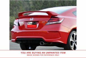 Unpainted Si Style Rear Spoiler For Honda Civic Coupe Si Large 2012
