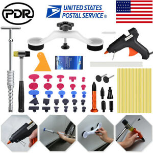 Us Pdr Tools Slide Hammer Puller Paintless Dent Repair Hail Removal Tap Down Kit