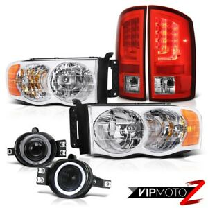 2002 2005 Dodge Ram 1500 St Wine Red Tail Brake Lights Headlamps Fog Replacement