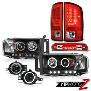 2003 2005 Dodge Ram 2500 Ws Taillights Headlights Foglamps 3rd Brake Light Led