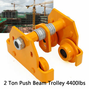 Steel 2t Push Beam Trolley For Heavy Loads To 4400 Lb Fit I Beam