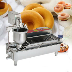 Commercial Electric Automatic Doughnut Donut Machine Unit Donut Maker W 3 Size