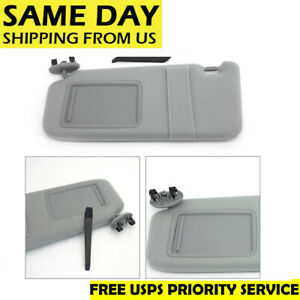 New Sun Visor Left Driver Side Gray For 2007 2011 Toyota Camry Without Sunroof