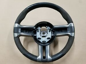 2013 2014 Ford Mustang Shelby Gt500 Leather And Suede Steering Wheel Oem
