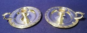 Wm A Rogers By Oneida Silversmiths Silverplate Candlestick Holders