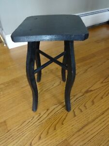 Vintage Black Primitive Country Wood Mission Plant Stand End Lamp Side Table 15