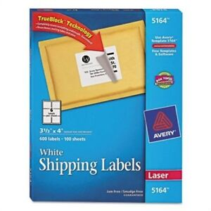 Shipping Labels With Trueblock Technology 3 1 3 X 4 White 600 box