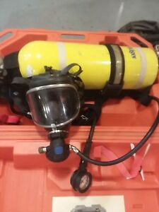 Drager Scba Mask Harness Air Tank Case See Pics