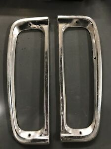 73 79 Ford Truck Tail Light Taillight Trim Rings Both Sides Bronco 1973 1979 Oem