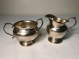 Gorham Sterling Sugar And Creamer Set 511 And 512