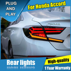 For Honda Accord Dark Red Led Rear Lamps Assembly Led Tail Lights 2018 2019