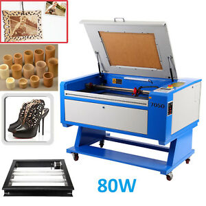 500x700mm Usb 80w Co2 Laser Cutter Engraver Machine Electric Lift W Rotary Axis