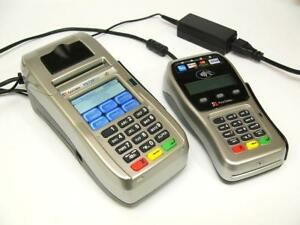 First Data Fd 130 Duo Credit Card Machine Terminal Fd 35 Chip Reader Pin Pad
