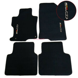 For 08 12 Honda Accord Black Nylon Floor Mats Carpets W Mugen Embroidery