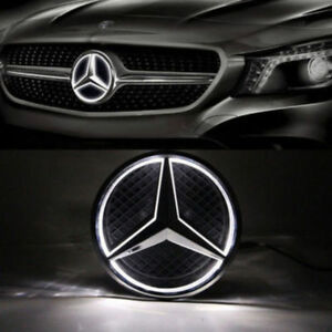 Car Front Illuminated Led Grille Star Logo Emblem Badge Light For Mercedes Benz