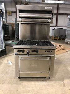 Garland Sunfire 6 Burner Range And Us Range Salamender Used Gas