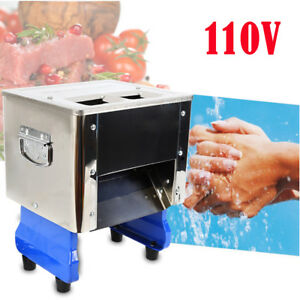 550w Desktop Electric Meat Slicing Shredding Cutting Machine With Double Blades